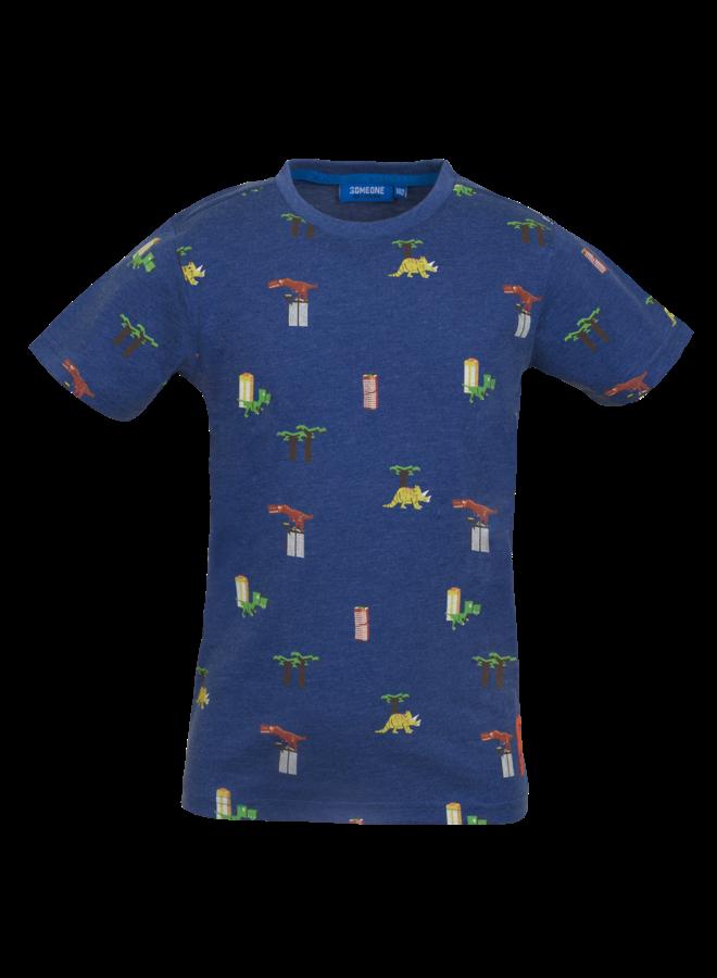 T-shirt Dino - Dark Blue Melange