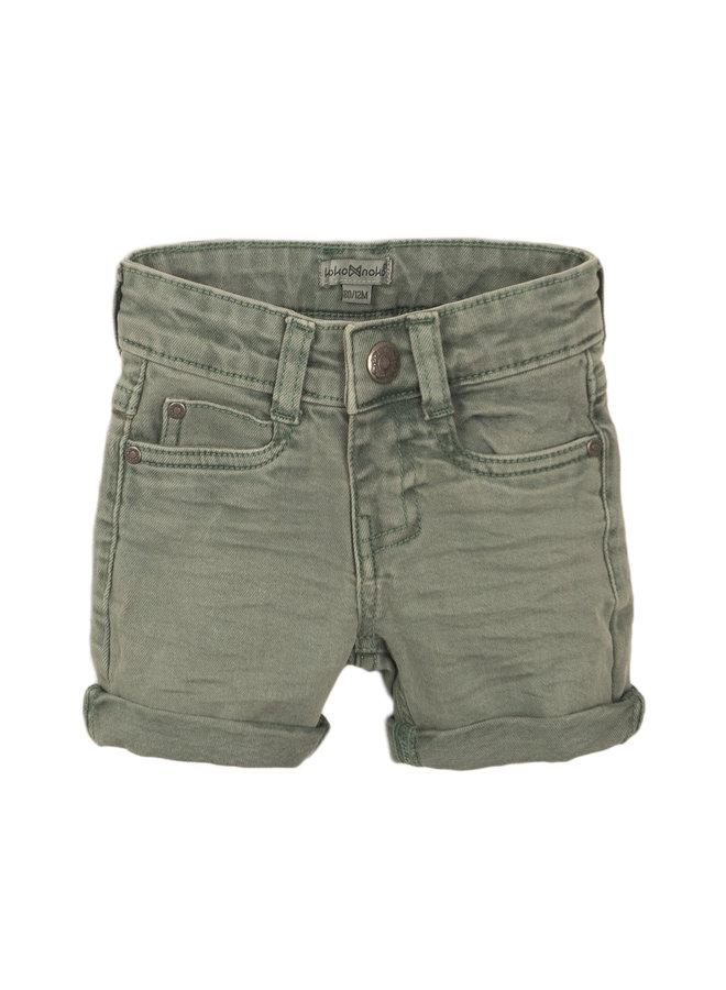 Boys Jeans Shorts - Faded Green SS21