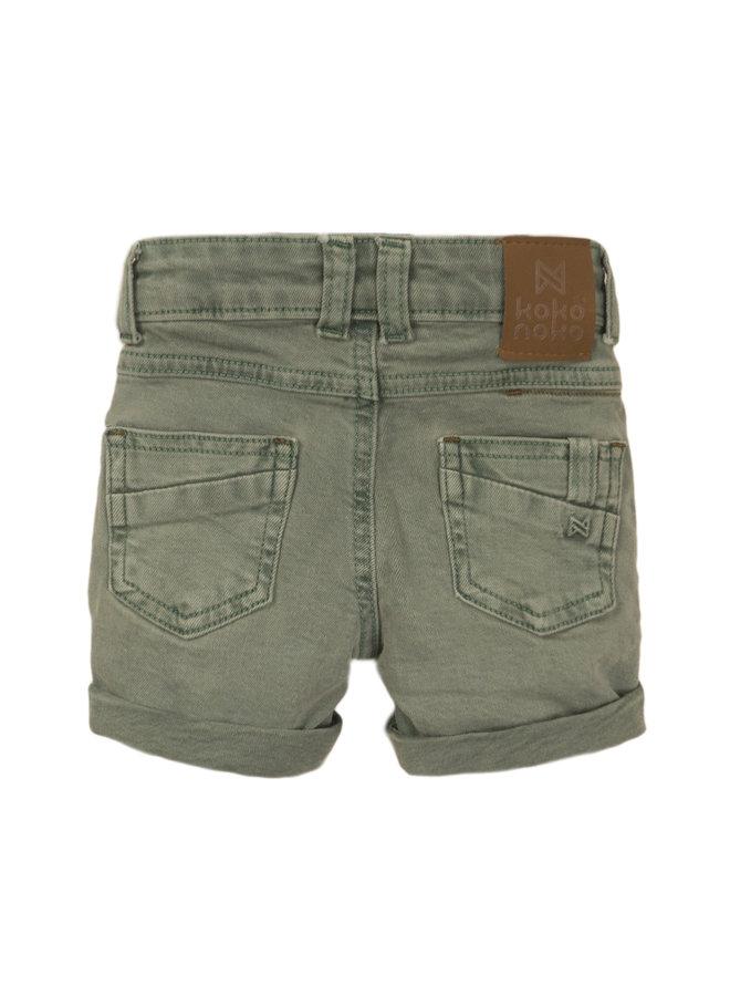 Koko Noko - Boys Jeans Shorts - Faded Green SS21