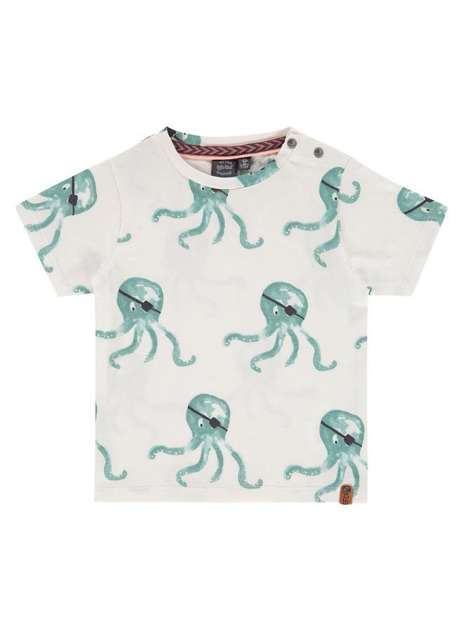 Boys T-shirt Short Sleeve - Grey Mint AOP SS21