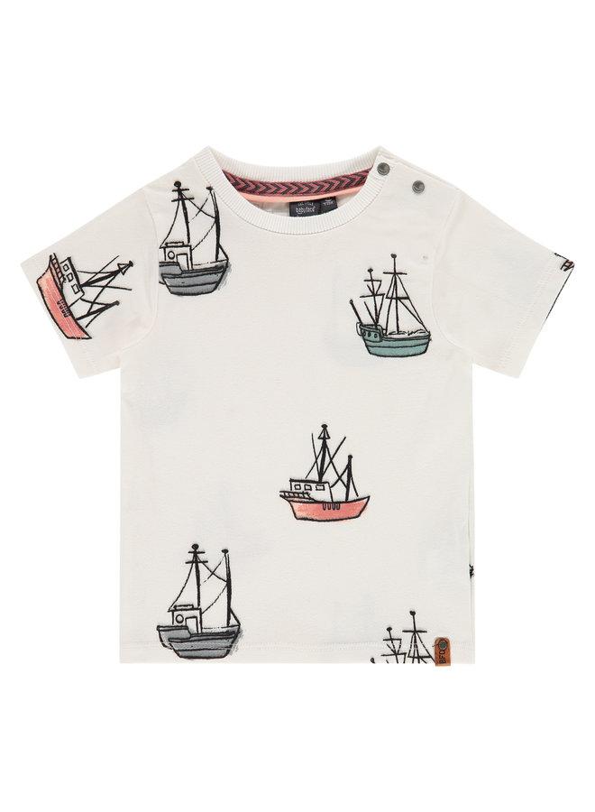Boys T-shirt Short Sleeve - Off White SS21