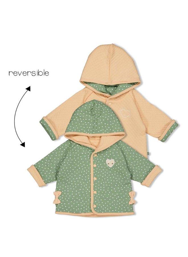 Omkeerbaar jasje met capuchon - Hearts - Groen