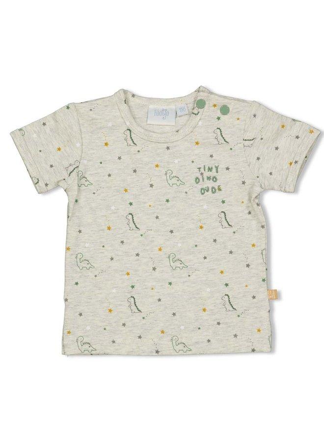 T-shirt - Dinomite - Grijs melange