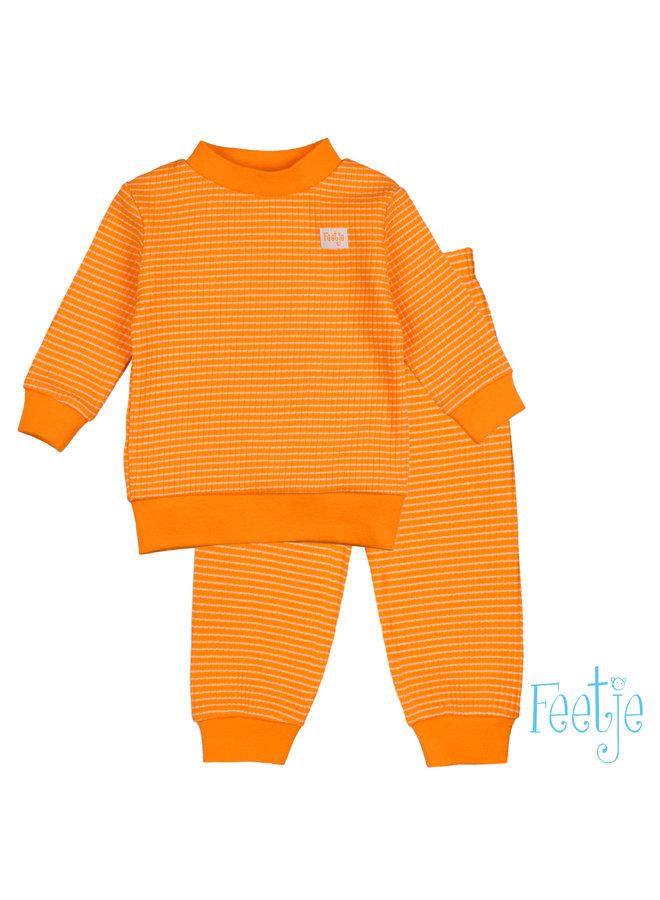 Pyjama wafel - Oranje