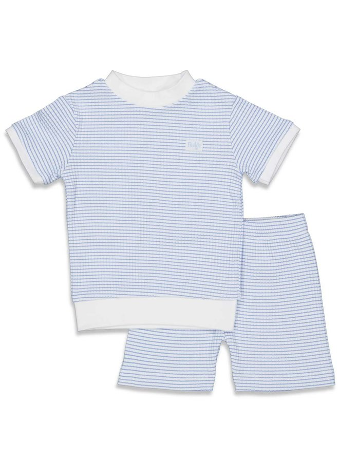 Feetje - Pyjama kort wafel - Blue - Limited Edition