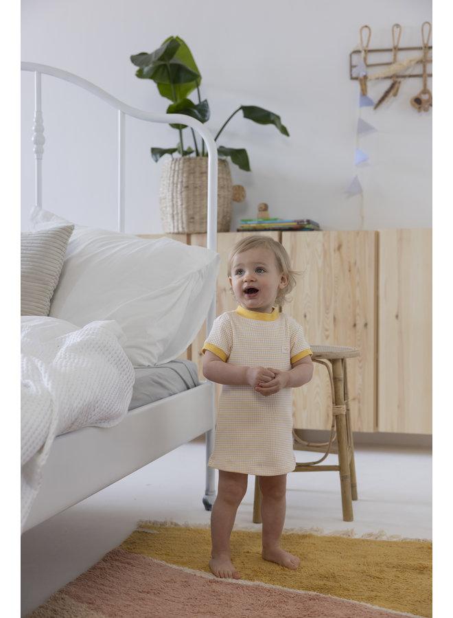 Feetje - Pyjama kort wafel - Okergeel - Limited Edition
