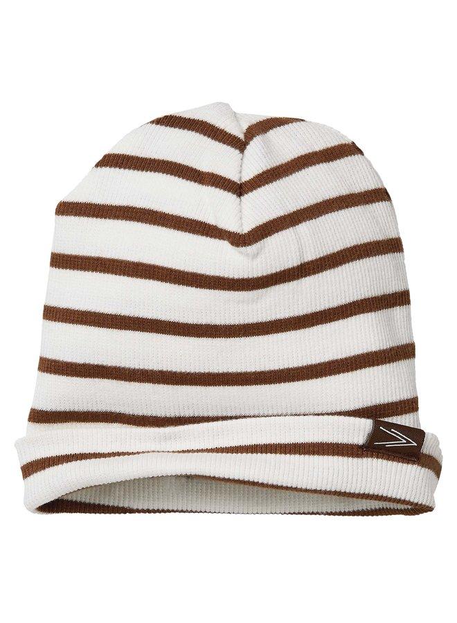 Levv Newborn - Brad - Hat - AOP Brown Stripe