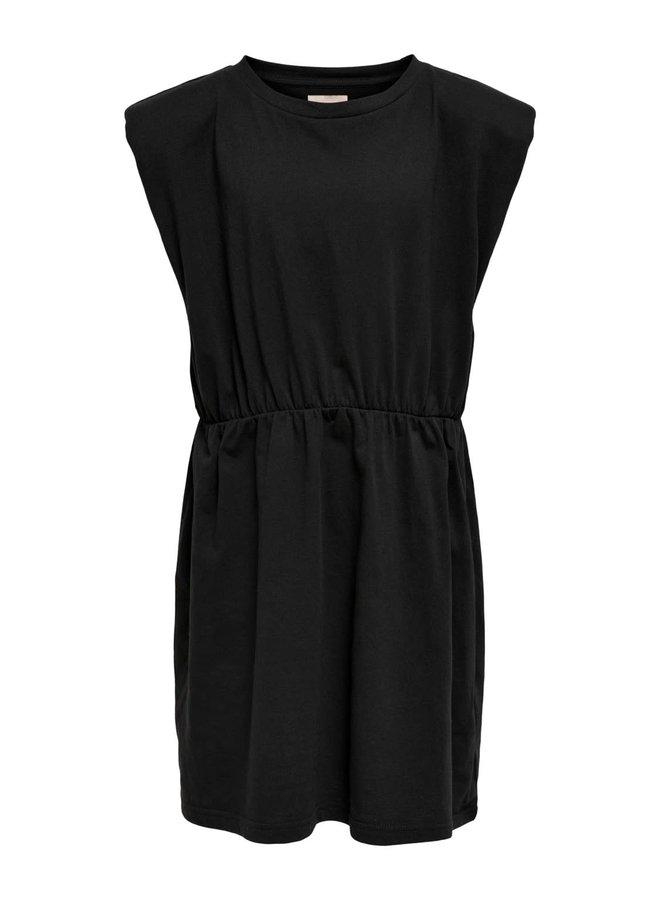 Kids Only - Amy Padded Shoulder Solid s/l Dress - Black