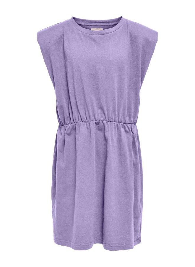 Kids Only - Amy Padded Shoulder Solid s/l Dress - Lavender