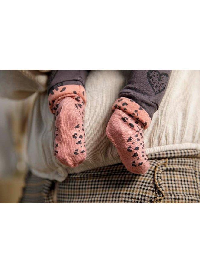 Feetje - Sok - Full Of Love - Terra Pink