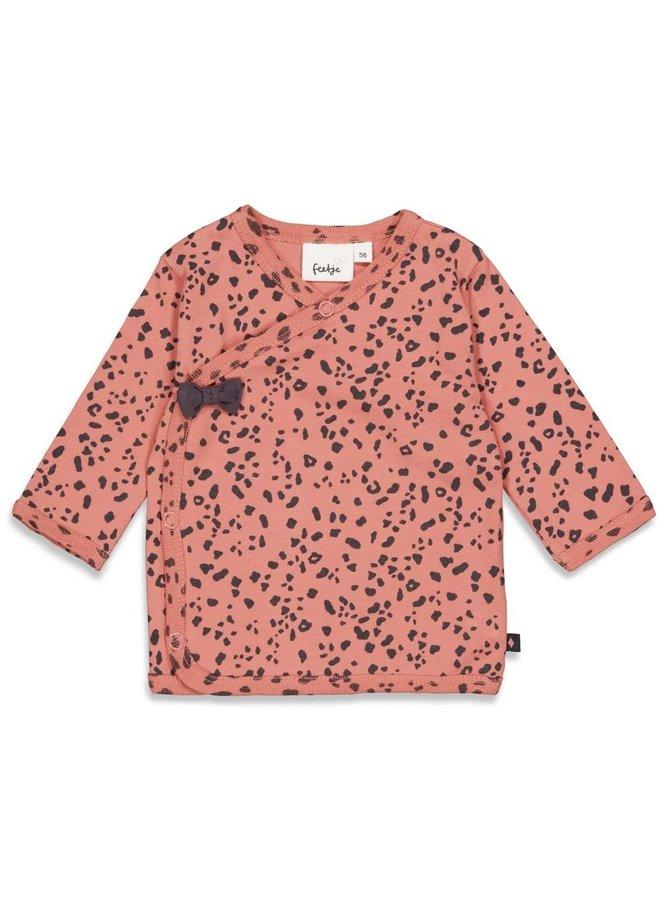 Overslagshirt - Full Of Love - Terra Pink