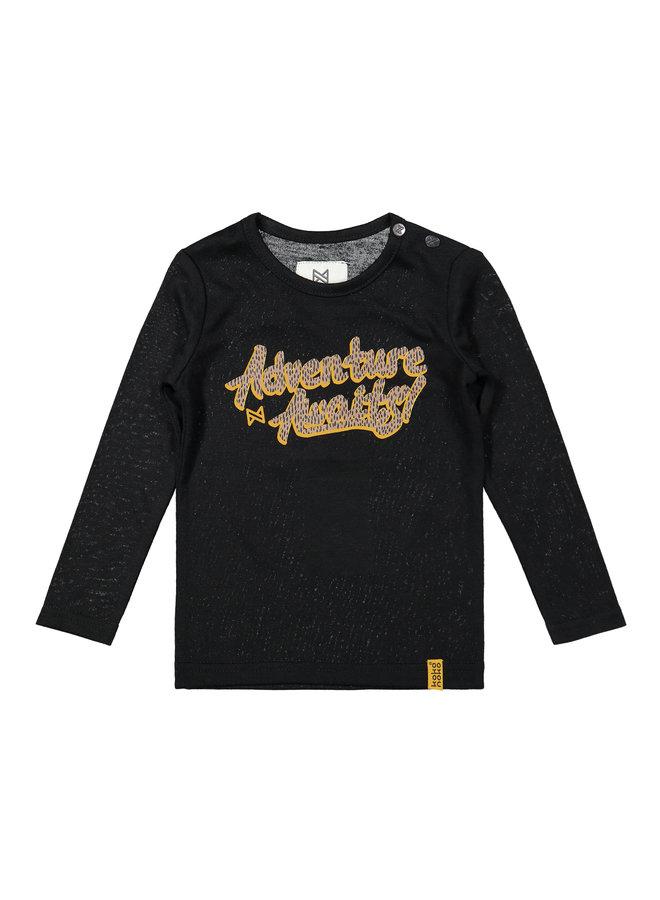 Girls T-shirt LS - Black