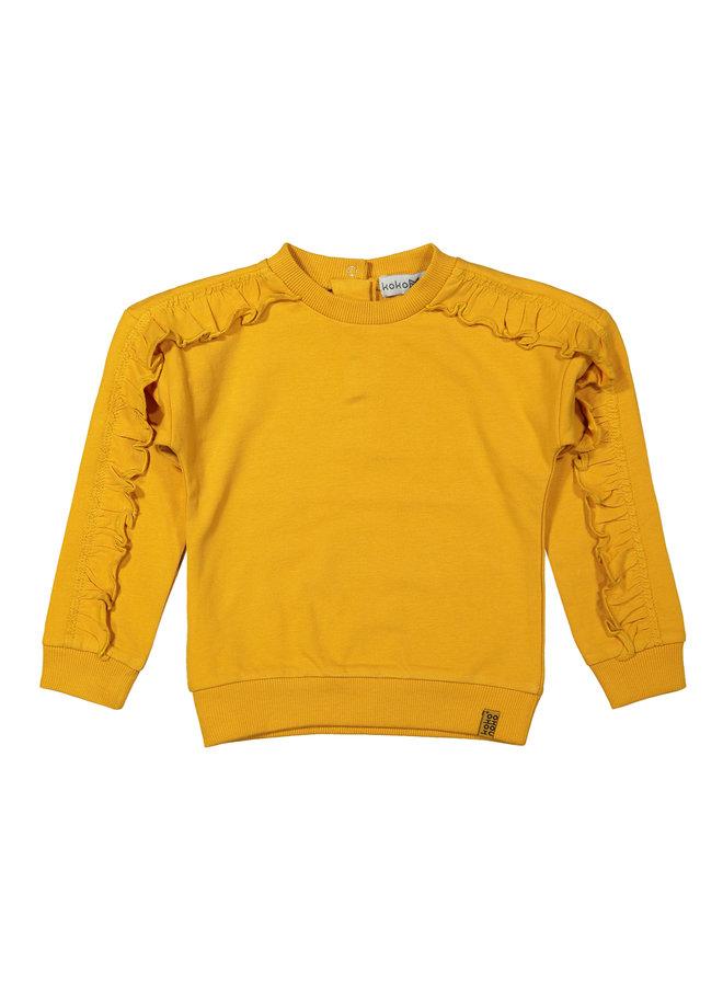 Girls Sweater LS - Ochre