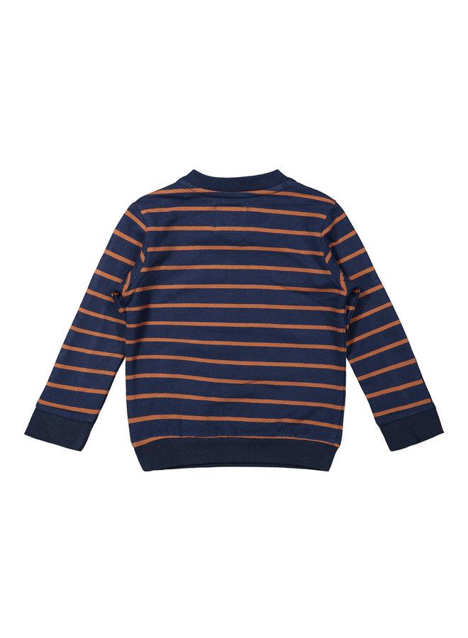 Boys  Sweater LS - Navy / Camel