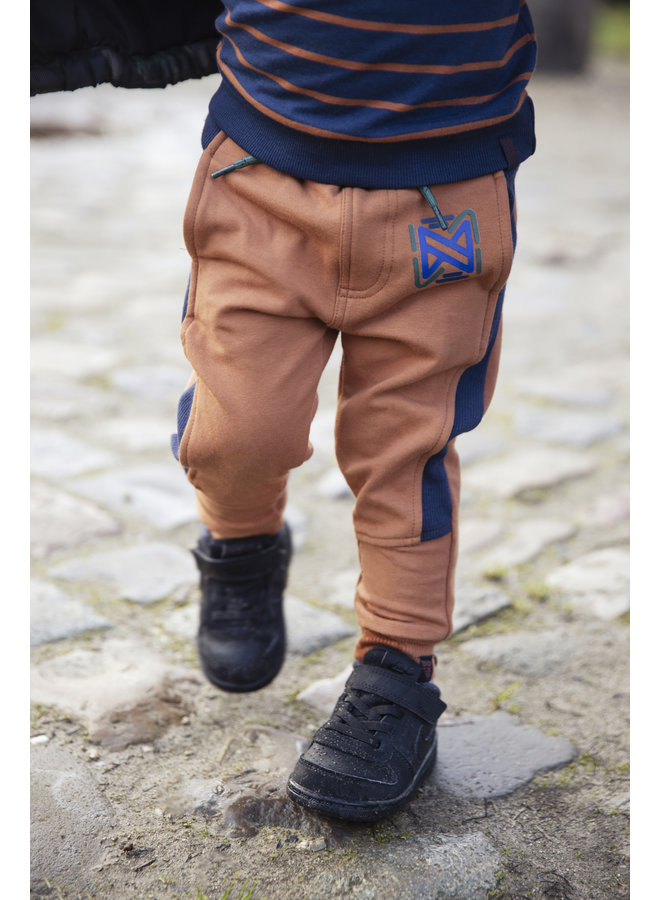 Boys Jogging Trousers - Camel / Navy
