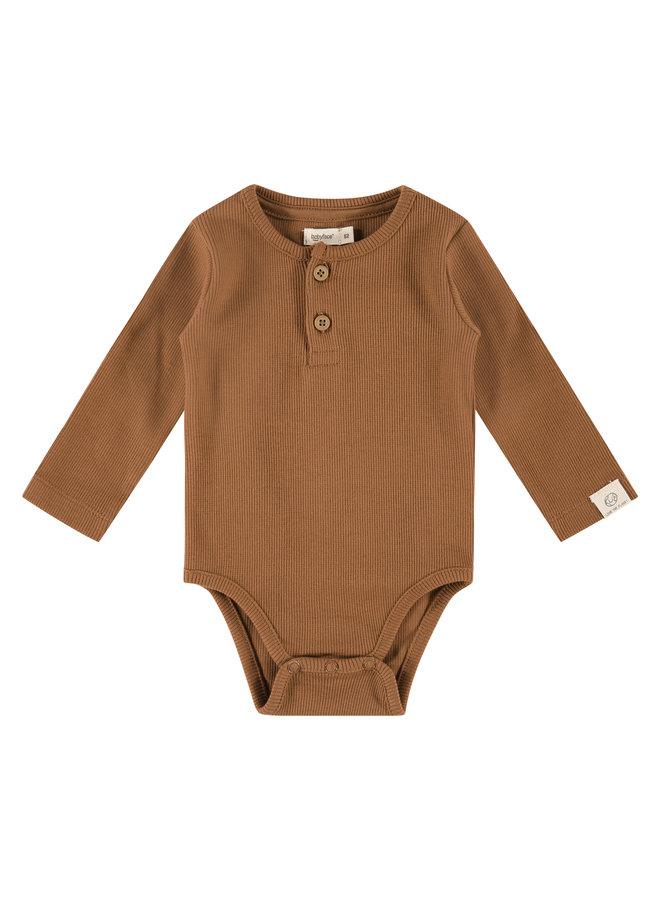 Baby Romper Long Sleeve - Chocolate