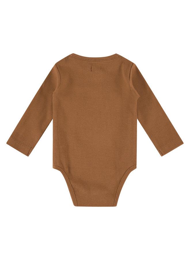 Babyface - Baby Romper Long Sleeve - Chocolate
