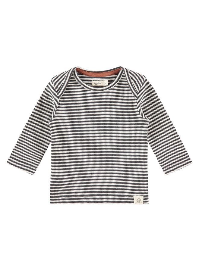 Baby T-shirt Long Sleeve Stripe - Ebony