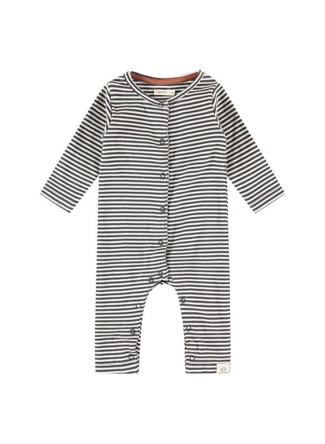 Baby Suit Stripe - Ebony