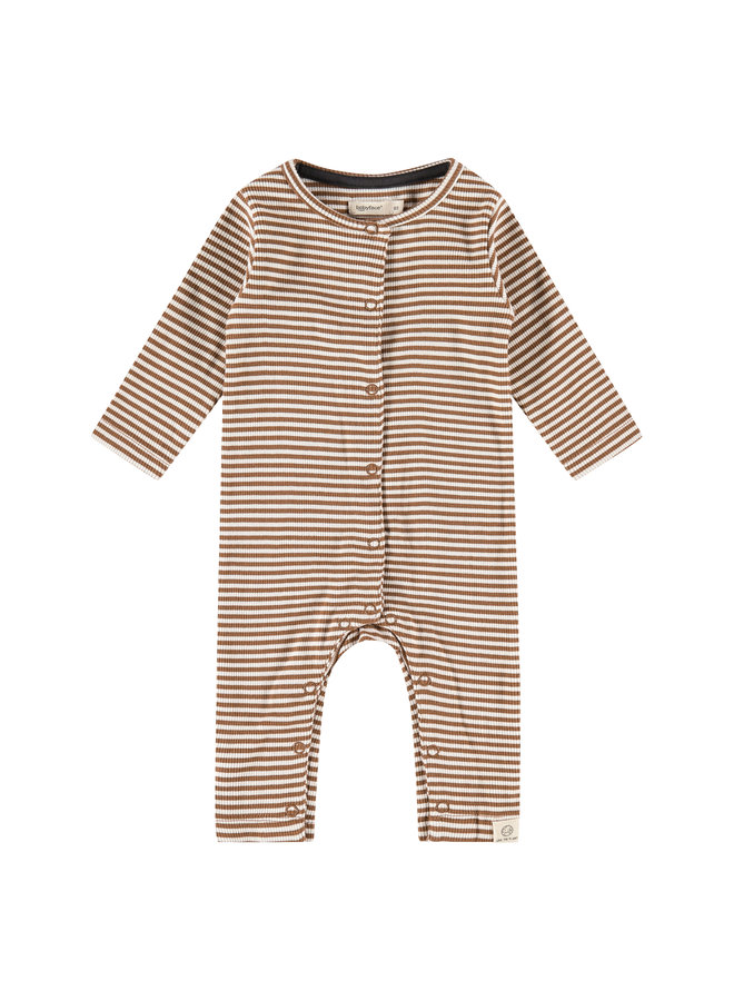 Baby Suit Stripe - Chocolate