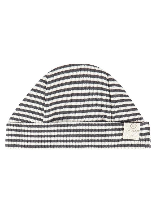 Baby Hat Stripe - Ebony