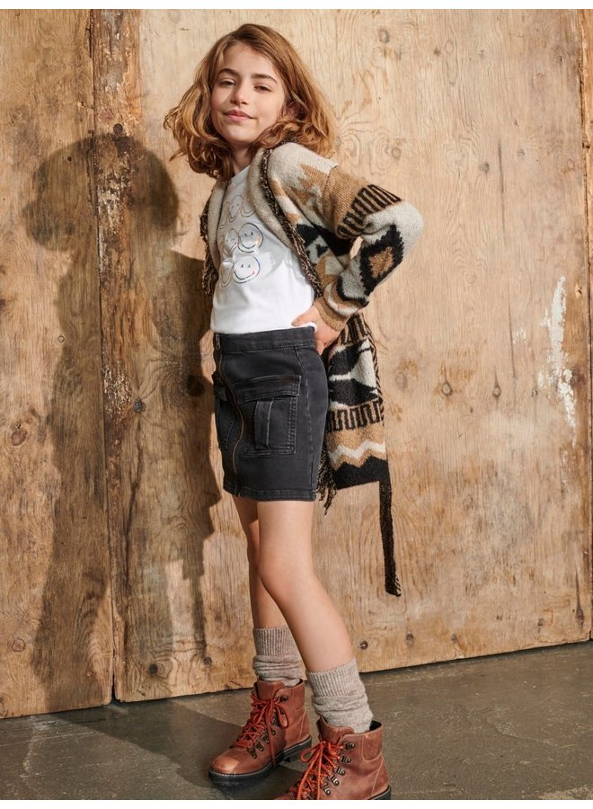 Kids Only - Sasha Life Zipper Skirt - Dark Grey