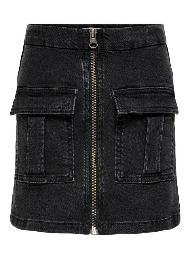 Sasha Life Zipper Skirt - Dark Grey