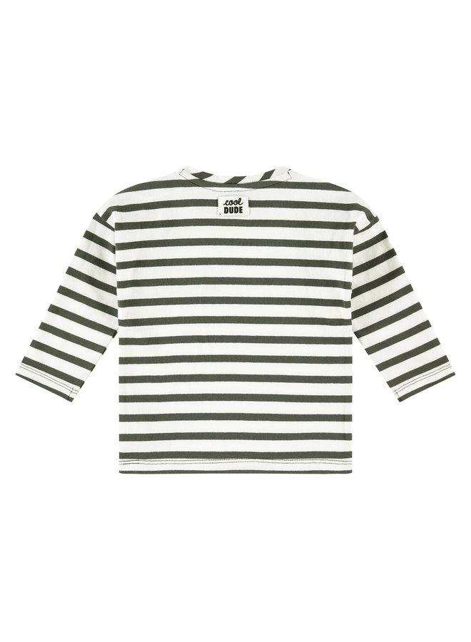 Babyface - Boys T-shirt Long Sleeve - Stripe - Dark Green