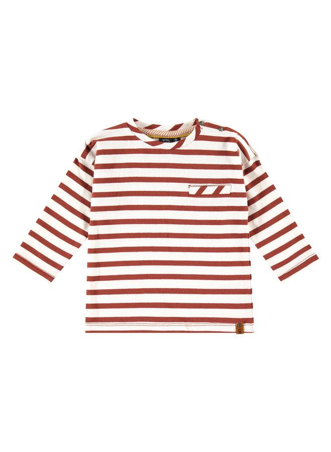 Boys T-shirt Long Sleeve - Stripe - Mahony