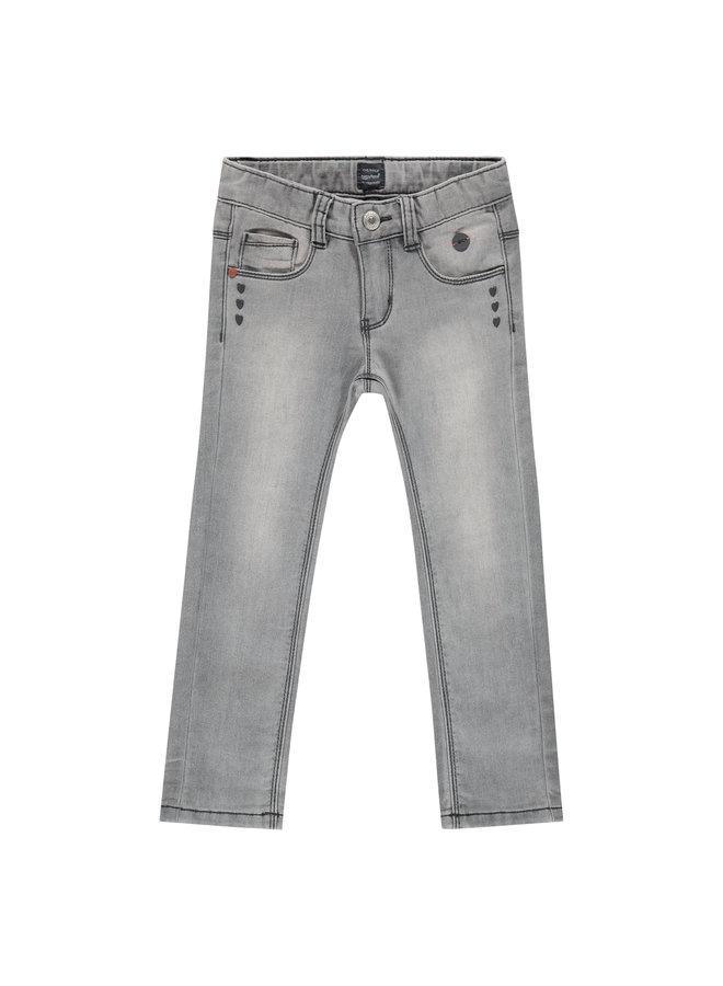 Girls Jogg Jeans - Mid Grey Denim