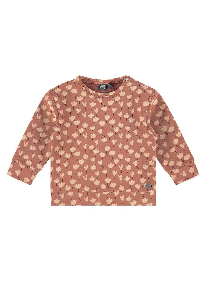 Girls Sweatshirt AOP - Terra Pink