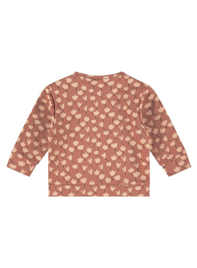 Babyface - Girls Sweatshirt AOP - Terra Pink