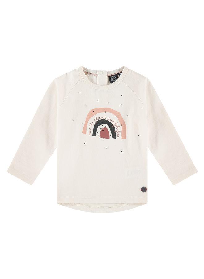 Girls T-shirt Long Sleeve - Ivory