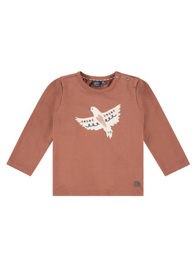Girls T-shirt Long Sleeve - Terra Pink