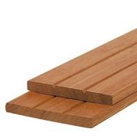 Hardhouten schuttingplank - v-groef - 1.5 x 14 x 305 cm