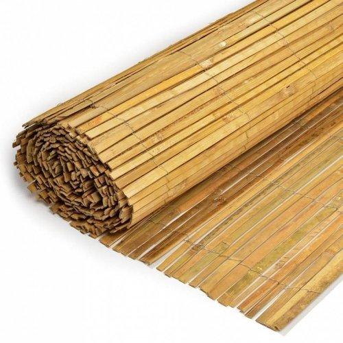 Gespleten Bamboemat op rol H200 x L500 cm
