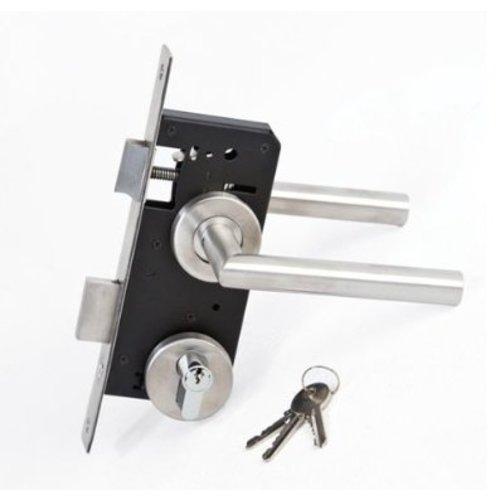 Inbouwcilinderslot voor poortdeuren RVS