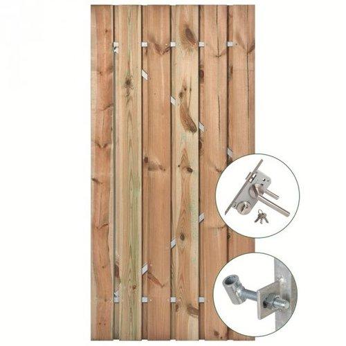 Tuindeur geimpregneerd stalen frame 110 x 195 cm - compleet incl. beslag