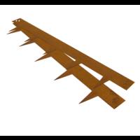 Cortenstaal kantopsluiting - 106 x 16 cm