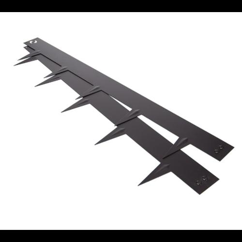 Zwart gecoate kantopsluiting - 106 x 16 cm