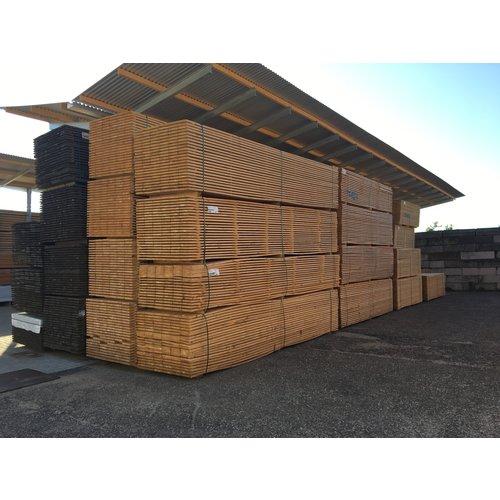 Nieuwe steigerplank - ca. 3 x 20 x 300 cm - vers - fijnbezaagd