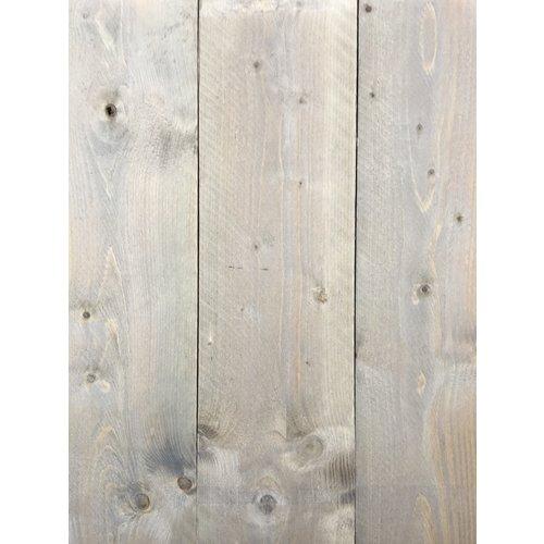 Gebruikte steigerhout steigerplank - Old Grey Look - ca. 2 x 20 x 300 cm