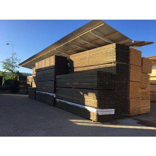 """Gebruikte"" steigerhout steigerplank - Old Grey Look - ca. 3 x 20 x 300 cm"