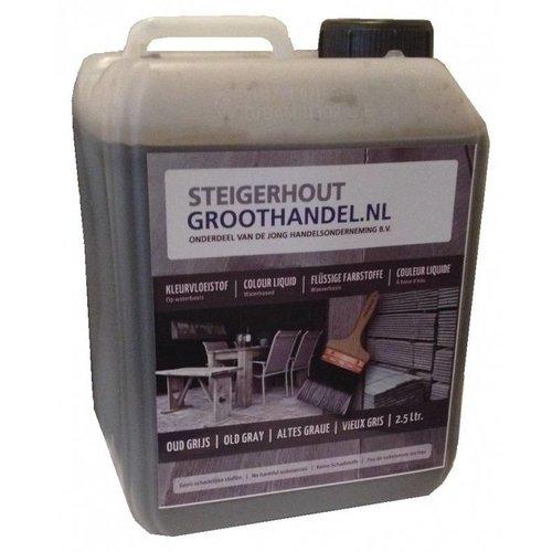 0,75 L Old Grey vloeistof voor bijwerken Old Look Steigerplanken