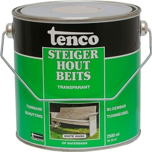 2.5 LTenco steigerhoutbeits - Greywash, Whitewash of Blackwash