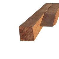 Hardhouten (Azobe) paal fijn gezaagd 7 x 7 x 300 cm
