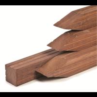 Hardhouten paal 8.5 x 8.5 x 300 cm - geschaafd met v-groef