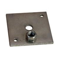 Stelplaat betonpoer - losse moer M16 - incl. houtdraadbouten