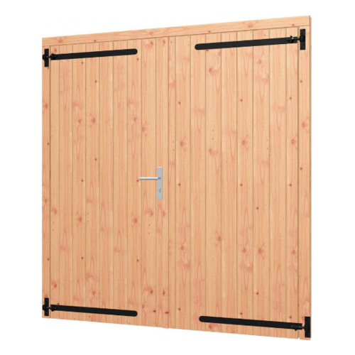 Dubbele opgeklampte  Douglas deur - B190 x H202 cm