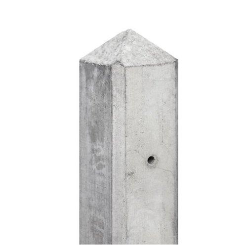 Betonpaal diamantkop 10 x 10 x 280 cm - Grijs